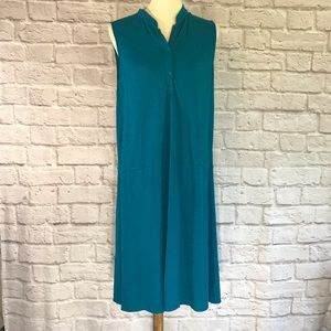 Eileen Fisher Turquoise shift dress size M